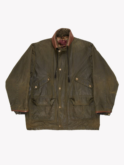 Mulberry Wax Jacket Green/Brown Size Medium