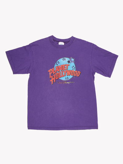 Planet Hollywood T-Shirt Purple/Blue/Red Size Large