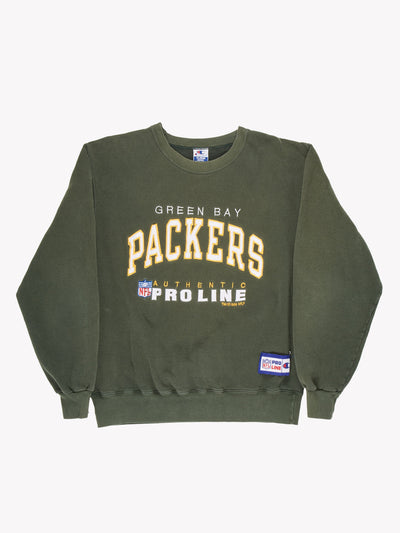 Champion Green Bay Packers NFL Sweatshirt Green/Yellow/White Size XL