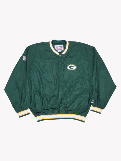 Starter Green Bay Packers NFL Sweatshirt Green/White/Yellow Size Large