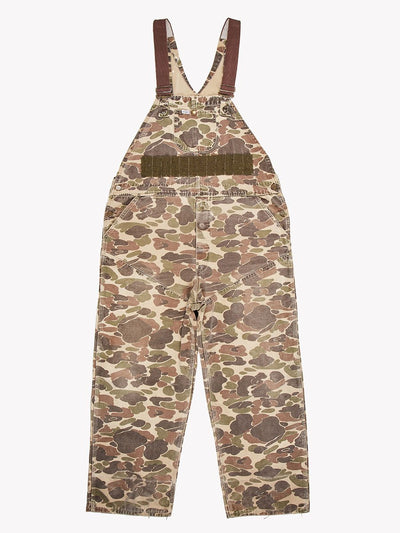 Carhartt Camo Dungarees Green/Brown Size W40x28