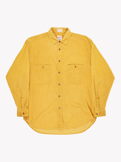 Vintage Micro Cord Shirt Yellow Size Medium