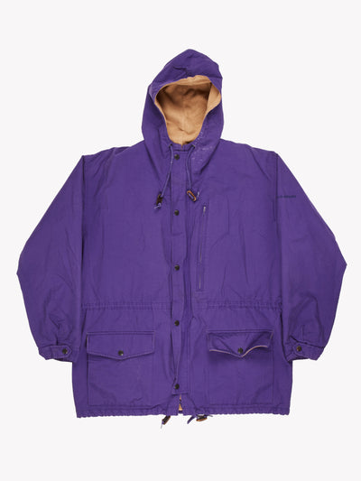 Ralph Lauren Polo Sport Fleece Lined Jacket Purple/Brown Size Medium