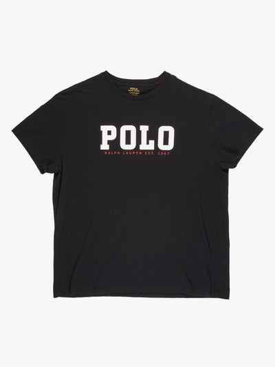 Ralph Lauren Polo T-Shirt Black/White Size XL