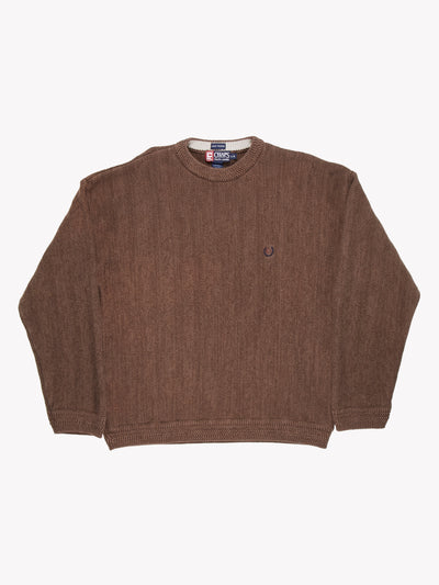 Chaps Ralph Lauren Cotton Sweater Brown Size Large