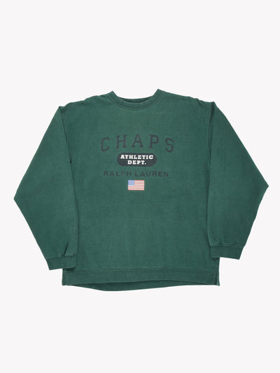 Ralph Lauren Chaps Sweatshirt Green Size Medium