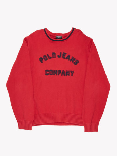 Ralph Lauren Polo Jeans Knit Jumper Red/Navy Size XL