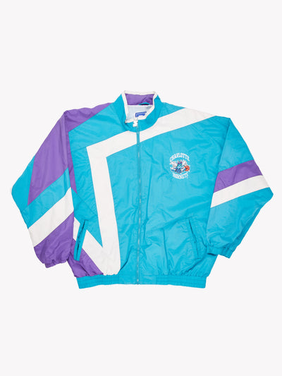 Starter Charlotte Hornets NBA Jacket Blue/Purple/White Size XXL