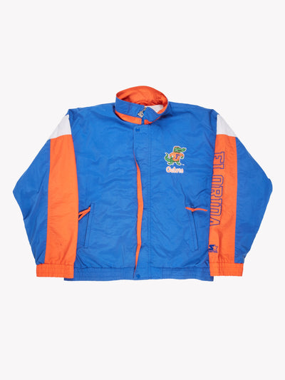 Starter Florida Gators Track Jacket Blue/Orange/White Size Medium
