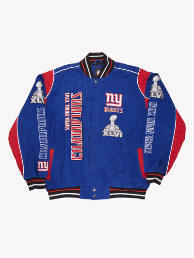 NY Giants NFL 2012 Superbowl XLVI Jacket Blue/Red Size XL