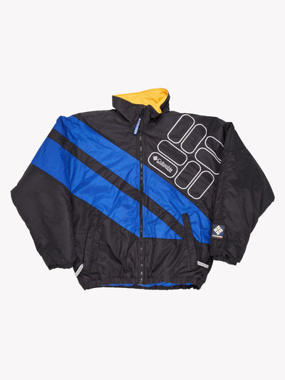 Columbia Jacket Black/Blue Size Mens Small