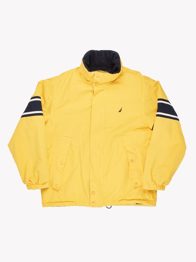 Nautica Reversible Jacket Yellow/Navy Size Large