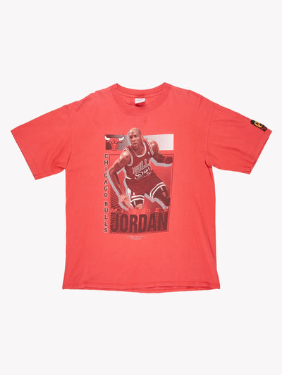 Starter 1991 Michael Jordan T-Shirt Red/Black/White Size Large