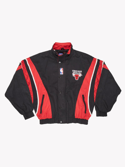 Starter Chicago Bulls NBA Jacket Black/Red/White Size Medium
