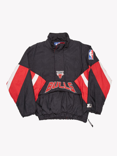 Starter Chicago Bulls Pro Sport Jacket Black/Red Size Large
