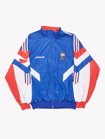 1990-92 Adidas France Football Track Jacket Blue/Red/White Size Medium