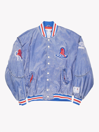 Umbro 1990's Chelsea FC Bomber Jacket Blue/Red/White Size Medium