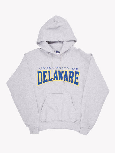 Champion 'University Of Delaware Hoodie Grey/Blue/Yellow Size Small