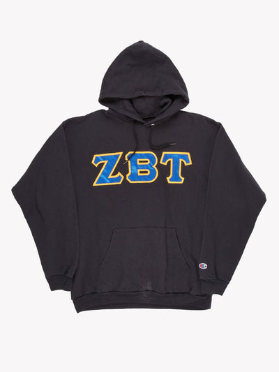 Champion 'ZBT' Hoodie Black/Blue/Yellow Size Large