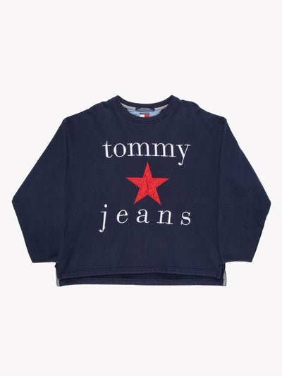 Tommy Jeans Sweatshirt Blue/White/Red Size XXL