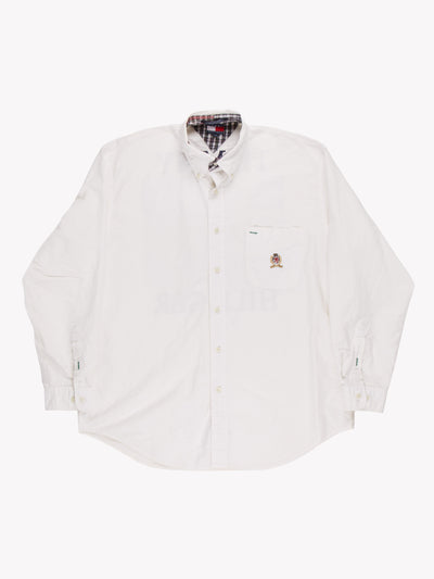 Tommy Hilfiger Shirt White/Blue/Red Size Large
