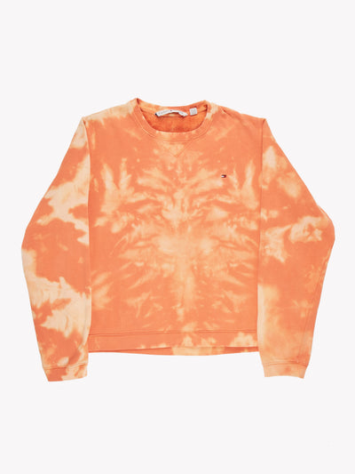 Tommy Hilfiger Bleach Effect Sweatshirt Orange Size Small