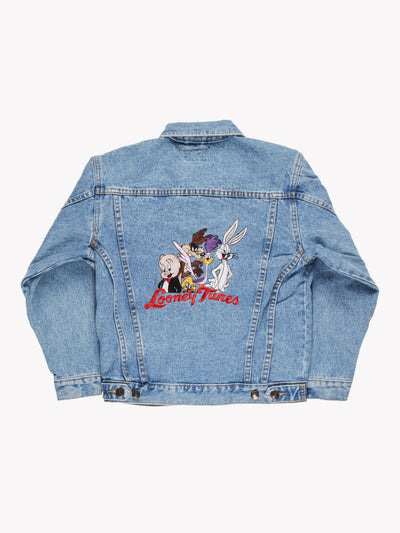 Looney Tunes Denim Jacket Blue Size Small - Blue / Small / Great (10008331)