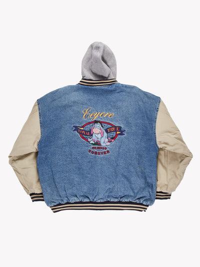 Disney Eeyore Denim Jacket Blue/Cream/Grey Size XXL - Blue / XXL / Good (10008332)