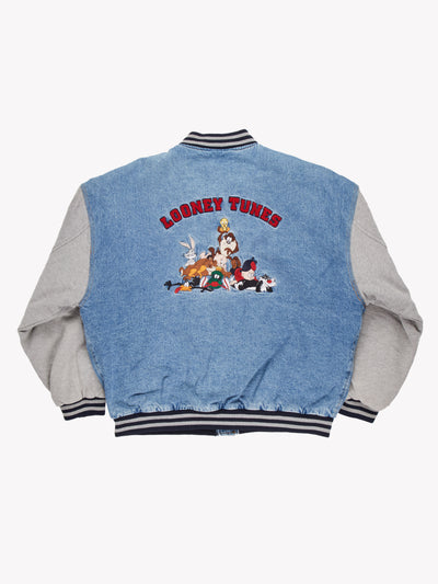 Warner Bros Looney Tunes Denim Jacket Blue/Grey Size XL - Blue / XL / Great (10008335)