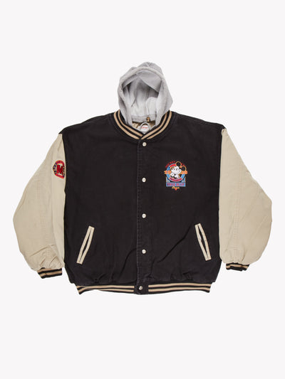 The Disney Store Denim Jacket Black/Cream/Grey Size XL