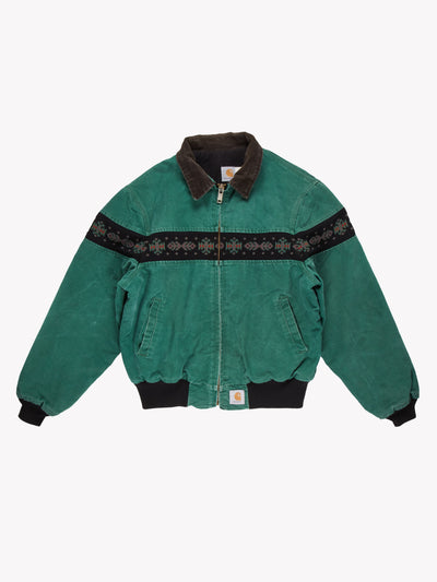 Carhartt Jacket With Aztec Pattern Green/Black/Brown Size XL