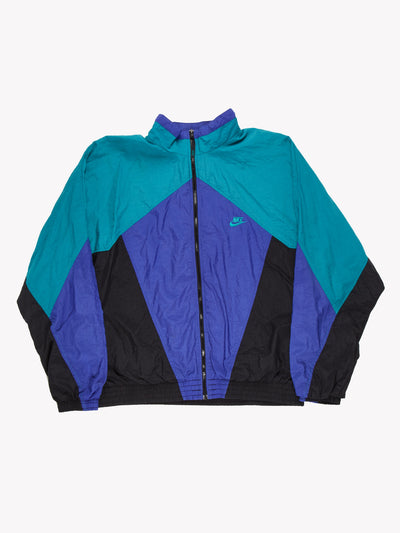 Nike 90's Track Jacket Green/Blue/Black Size XL