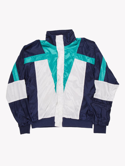 Nike 90's Track Jacket White/Green/Blue Size Medium