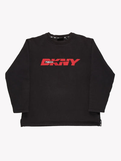 DKNY Sweatshirt Black/Red Size Large