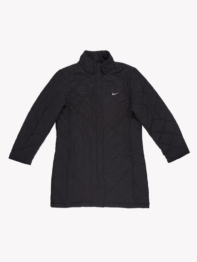 Nike Women's Quilted Jacket Black Size Medium