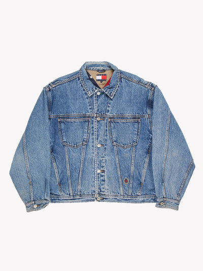Tommy Hilfiger Denim Jacket Blue Size Large