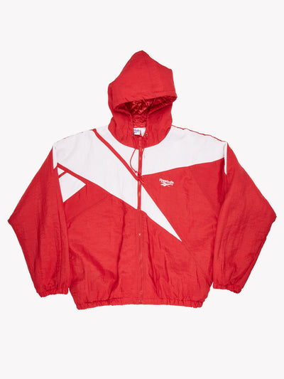 Reebok Jacket Red/White Size Large