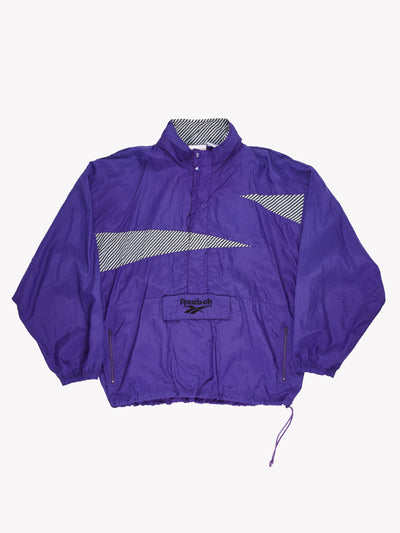 Reebok Pull Over Jacket Purple/Black/White Size XL