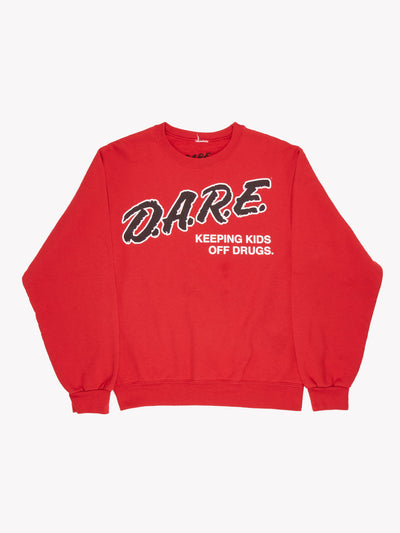 D.A.R.E Sweatshirt Red/Black/White Size Small