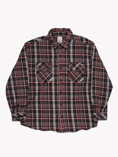 Dickies Checked Shirt Black/Red/Grey Size XL