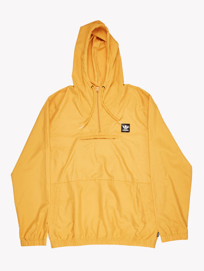 Adidas Pull Over Windbreaker Style Jacket Yellow Size Medium