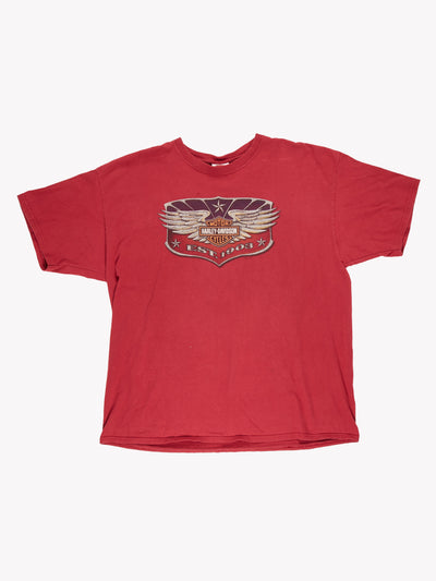 Harley Davidson T-Shirt Red/Purple/Grey Size XXL