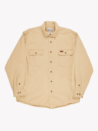 Carhartt Heavy Shirt Yellow Size Large