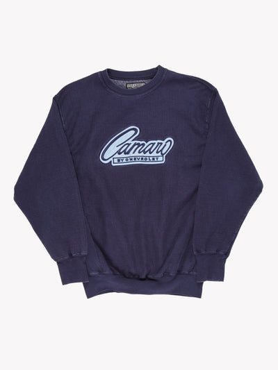 Vintage Camaro By Chevrolet Sweatshirt Blue Size Small