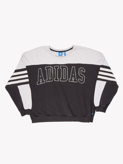 Adidas Sweatshirt Black/White Size Medium