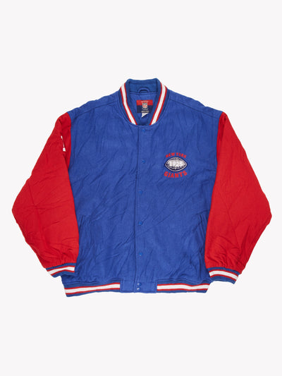 Reebok NFL New York Giants Varsity Jacket Blue/Red Size XXL