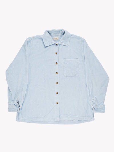 Jumbo Cord Shirt Blue Size Medium
