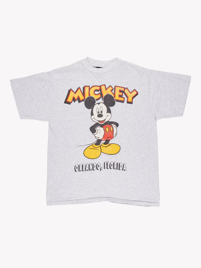 Mickey Mouse Florida T-Shirt Grey/Red/Yellow Size Large
