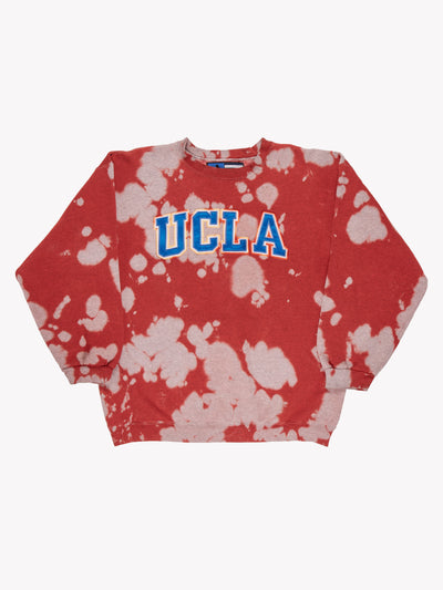 Adidas UCLA Bleach Effect Sweatshirt Red/Grey/Blue Size XL
