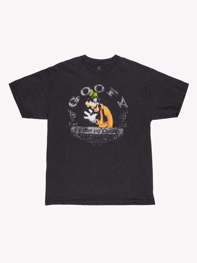 Disney Goofy T-Shirt Black/Orange/Grey Size Large